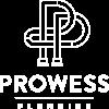 Prowess Plumbing Logo_White no BG